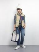 konabeさんの「EB08 チュールポンポン付きニット帽(Afternoon Tea|アフタヌーンティー)」を使ったコーディネート