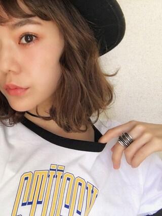 長澤メイさんの「Bandsman HAT(SLY LANG|スライ ラング)」を使ったコーディネート