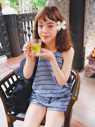 長澤メイさんの(ROXY|ロキシー)を使ったコーディネート