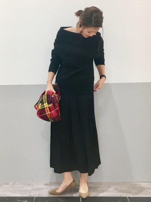 PATAZOさんの「ビンテージサテンプリーツスカート(CIAOPANIC TYPY)」を使ったコーディネート