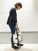 JOURNAL STANDARD 京都店スタッフ2さんの「【TEMBEA TORSO design/テンベア】 ×JS別注 SP星柄トート_#(TEMBEA|テンベア)」を使ったコーディネート