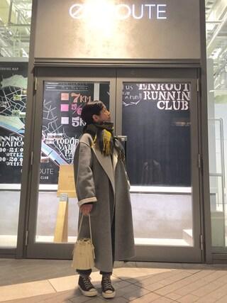 ユナイテッドアローズ 原宿本店 メンズ館|Satoko Takeshitaさんの「<6(ROKU)>REVER SEWING GOWN COAT/コート(BEAUTY&YOUTH UNITED ARROWS|ビューティアンドユースユナイテッドアローズ)」を使ったコーディネート