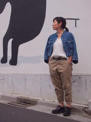 ユナイテッドアローズ 原宿本店 メンズ館|Satoko Takeshitaさんの「UNITED ARROWS & SONS(ユナイテッドアローズ&サンズ) CHINO WIDE TPD(UNITED ARROWS & SONS|ユナイテッドアローズ アンド サンズ)」を使ったコーディネート