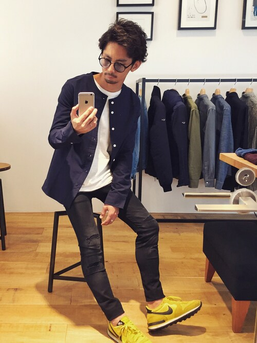 YUSUKE5さんの「Pontus Collarless Shirt(SATURDAYS SURF NYC)」を使ったコーディネート