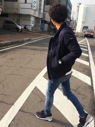 YUSUKE5さんの「スペシャル加工裏毛クルー(REMI RELIEF|レミ レリーフ)」を使ったコーディネート