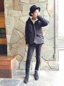 νーmasa│AVIREXのナイロンジャケットコーディネート