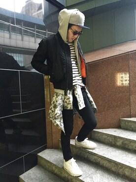AVIREX ららぽーと横浜|νーmasaさんの(AVIREX|アヴィレックス)を使ったコーディネート