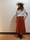 UNRELISH広島パルコ店さんの「ノームガウチョパンツ(UNRELISH|アンレリッシュ)」を使ったコーディネート