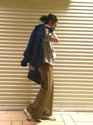 AZUSA  TAKAZONOさんの「【Casual】スリットワイドパーカー(Ungrid|アングリッド)」を使ったコーディネート