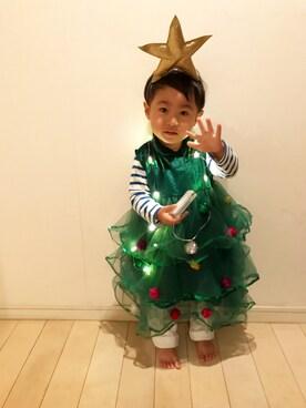 ☁︎☁︎☁︎そらのすけ+☁︎*॰¨̮さんの「クリスマスツリーなりきりドレス☆(クレアーズ)」を使ったコーディネート