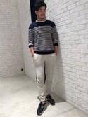 daikihonmaさんの「ラフィークルーネックTシャツ(LE JUN|ル ジュン)」を使ったコーディネート