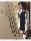 「FOREVER 21 Trapeze Tank Dress(Forever 21)」 using this miiinaaamiiin looks