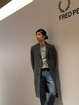 FRED PERRY 有楽町マルイ|KYOSUKE さんの「Chesterfield Coat(FRED PERRY)」を使ったコーディネート
