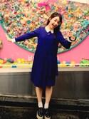 平 祐奈 | Yuna Tairaさんの「レイヤードプリーツワンピース(GRACE CONTINENTAL|グレースコンチネンタル)」を使ったコーディネート
