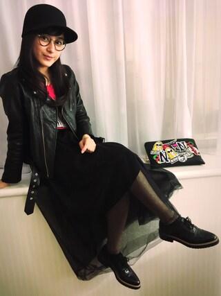 平 祐奈 | Yuna Tairaさんの「チュールロングスカート(FRAY I.D|フレイ アイディー)」を使ったコーディネート