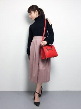 ZOZOTOWN|田中彩央里さんの「ハンドバッグ【PLAIN CLOTHING】(PLAIN CLOTHING)」を使ったコーディネート