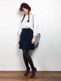 田中彩央里さんの「*綿ローン             スカラップ衿後ろ開きBL(peu pres|プープレ)」を使ったコーディネート