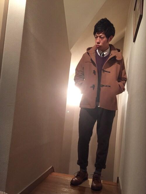 【かわいい男も悪くない*】ダッフルコートの着こなしまとめ♪【メンズ】