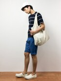 中嶋時男さんの「WALK IN CLOSET ORIGINAL ECO TOTE BAG (LARGE)(WALK IN CLOSET|ウォークインクローゼット)」を使ったコーディネート