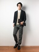 中嶋時男さんの「TRテーラードジャケット(ZIP FIVE|ジップファイブ)」を使ったコーディネート