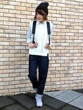 ikka 流山おおたかの森店|ザワワさんの「40ブロードレギュラーシャツ(ikka)」を使ったコーディネート