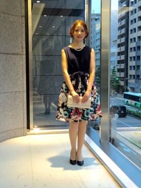 本社 デザイナー ismさんの「【A-W 神戸コレクション 鈴木優華さん ランウェイモデル】 結婚式から二次会まで 3Dプリントワンピース(Dear Princess)」を使ったコーディネート