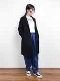 maruさんの「<木下ココさん着用>モッサチェスターコート(STYLEST スタイレスト)」を使ったコーディネート