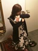 ririさんの「オーガン刺繍ワンピース(GRACE CONTINENTAL|グレースコンチネンタル)」を使ったコーディネート
