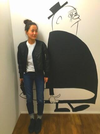 Tamaさんの「Acne Studios Row Slouchy Straight Jeans(Acne Studios|アクネストゥディオズ)」を使ったコーディネート