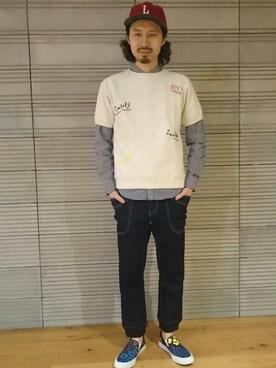 BEAVER池袋店 OGAWAさんの(narifuri ナリフリ)を使ったコーディネート