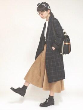 Kazumiさんの「【ヒルナンデス!紹介アイテム】ポリエステルスカーフ(studio CLIP|スタディオクリップ)」を使ったコーディネート