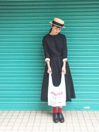 Kazumiさんの「UR SELECT ショッピングバッグ(UR SELECT|ユーアールセレクト)」を使ったコーディネート