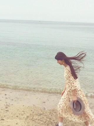 Kazumiさんの「VINTAGE FLOWER フレアー袖BL(rukkilill|ルッキリル)」を使ったコーディネート
