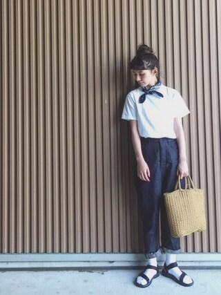 Kazumiさんの「[WEB限定 別注ヘインズ]Hanes×GLR Beffy Tシャツ(HANES ヘインズ)」を使ったコーディネート