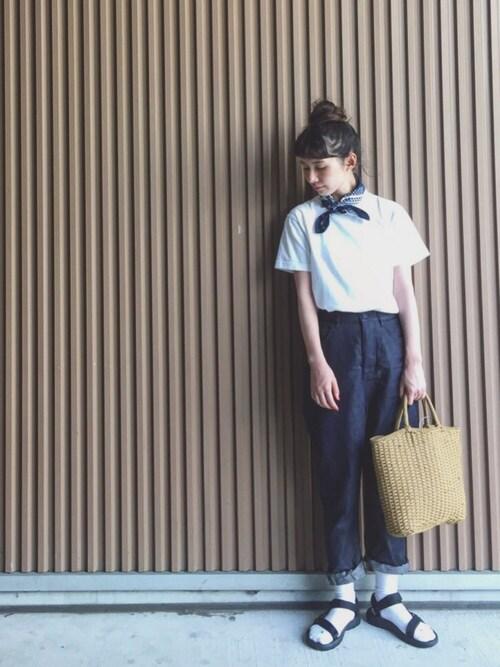 Kazumiさんの「[WEB限定 別注ヘインズ]Hanes×GLR Beffy Tシャツ(HANES)」を使ったコーディネート