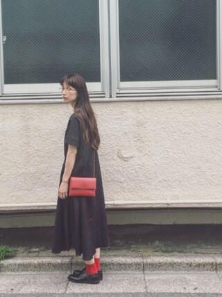Kazumiさんの「リネンマキシワンピース(conges payes ADIEU TRISTESSE コンジェ ペイエ アデュートリステス)」を使ったコーディネート