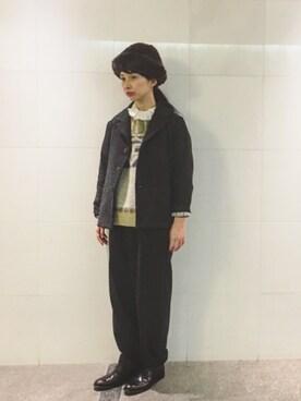 Kazumiさんの「タックフリル襟後ろリボンブラウス(ADIEU TRISTESSE LOISIR|アデュートリステス ロワズィール)」を使ったコーディネート