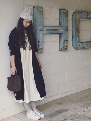 Kazumiさんの「Omas Hande RELAX DRESS LONG(B印 YOSHIDA(BEAMS×PORTER)|B印ヨシダ)」を使ったコーディネート