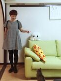 うちこさんの「Mini Unikko / CUSHION COVER 45×45cm(marimekko|マリメッコ)」を使ったコーディネート