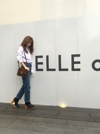 「WOODEN HEEL BOOTS Ⅱ(MOUSSY)」 using this 吉木千沙都 looks