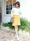 flowerさんの「corduroy petal skirt ~コーデュロイペタルスカート(flower|フラワー)」を使ったコーディネート