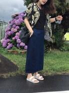 BouJeloud|sakamoto shizukaさんの「ダブルベルト コンフォート サンダル(Bou Jeloud|ブージュルード)」を使ったコーディネート