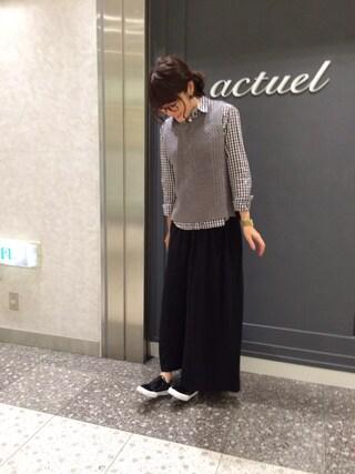 actuel 名古屋セントラルパーク店|Aki.kさんの(actuel|アクチュエル)を使ったコーディネート