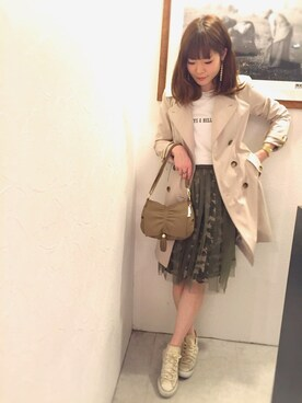 actuel 名古屋セントラルパーク店|Aki.kさんの「【MINK PINK】Split Side Square Tee(MINK PINK|ミンクピンク)」を使ったコーディネート