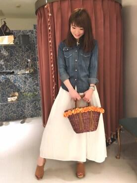 actuel 名古屋セントラルパーク店|Aki.kさんの「スラブデニム加工シャツ(INTERPLANET WINGS|インタープラネットウィング)」を使ったコーディネート