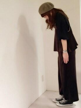 actuel 名古屋セントラルパーク店|Aki.kさんの「シルケット天竺ボリュームボトルネックP/O(actuel)」を使ったコーディネート