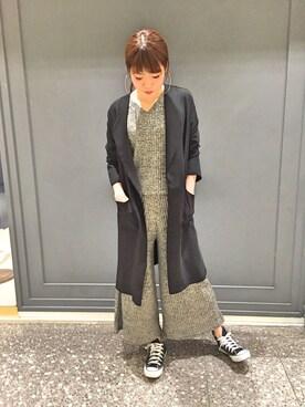 actuel 名古屋セントラルパーク店|Aki.kさんの「ツイルガウンJK(actuel)」を使ったコーディネート