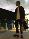 うえちんさんの「TRAVEL COUTURE by LOWERCASE キャンバストートバッグM(URBAN RESEARCH|アーバンリサーチ)」を使ったコーディネート