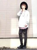 kazuya☆さんの「Air Force 1 LV8 Embossed Leather Sneakers(Nike|ナイキ)」を使ったコーディネート