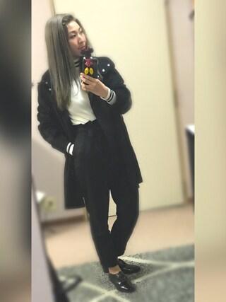 @:asukaさんの「ラインタートルプルオーバー(MURUA|ムルーア)」を使ったコーディネート